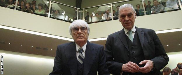 Bernie Ecclestone and his lawyer Sven Thomas
