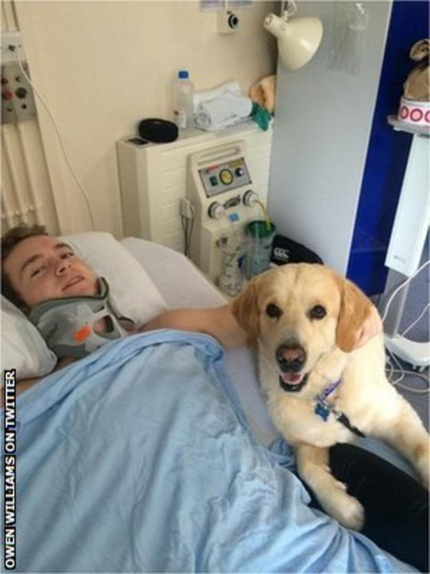 Owen Williams and dog
