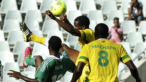 Zimbabwe in action against Nigeria