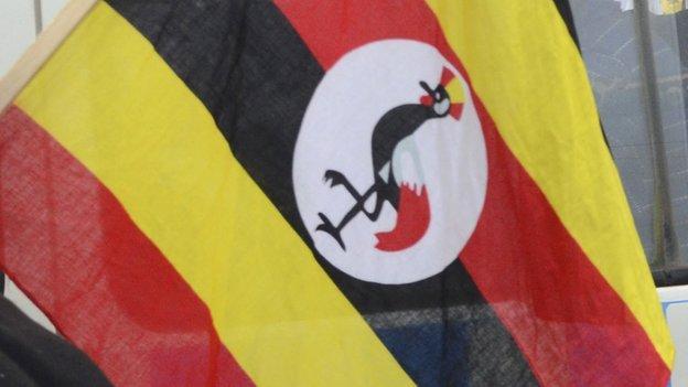 A Ugandan flag