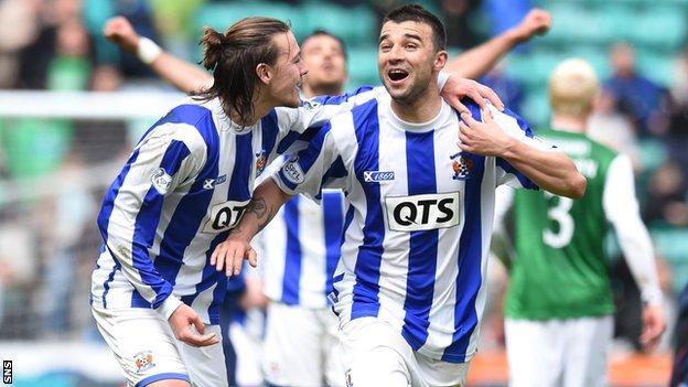 Alexei Eremenko (right) has signed a new deal at Kilmarnock