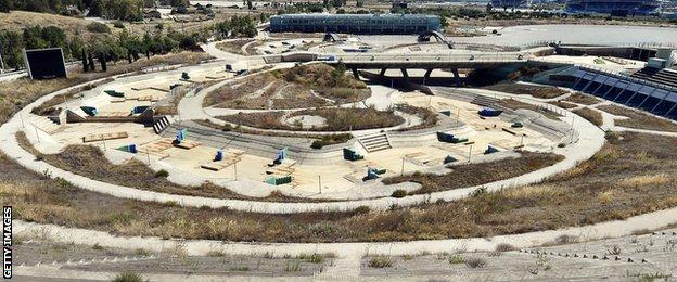 The Olympic canoe-kayak centre in Athens