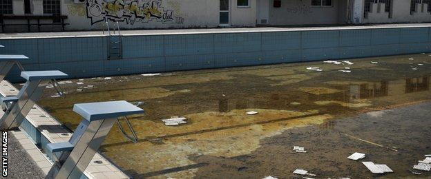 The Olympic aquatics centre in Athens