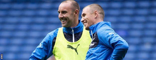 Rangers strikers Kris Boyd and Kenny Miller