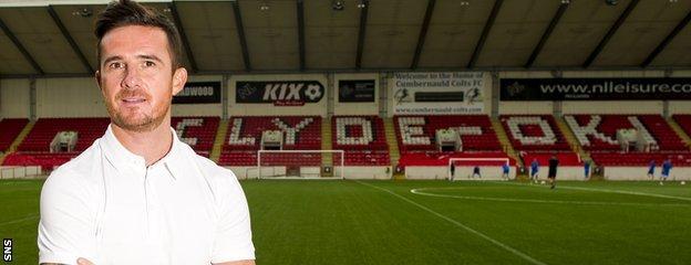 Clyde player-manager Barry Ferguson.