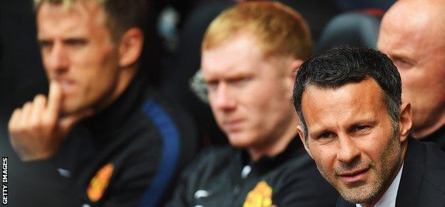 Phil Neville, Paul Scholes and Ryan Giggs