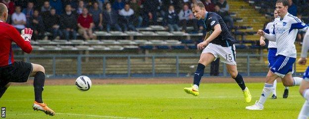 Greg Stewart scores against Peterhead