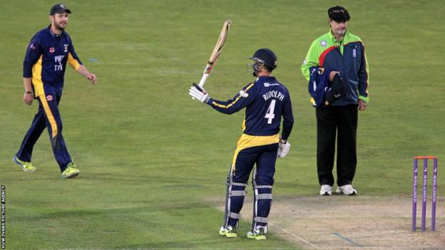 Jacques Rudolph scored 61 but Glamorgan fell to a 52-run home defeat against Durham in the One-Day Cup in Cardiff