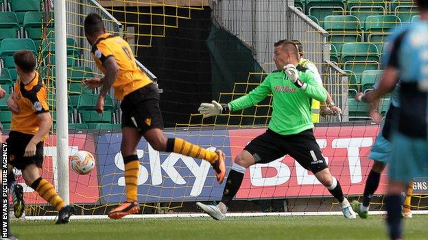 Wycombe take the lead against Newport