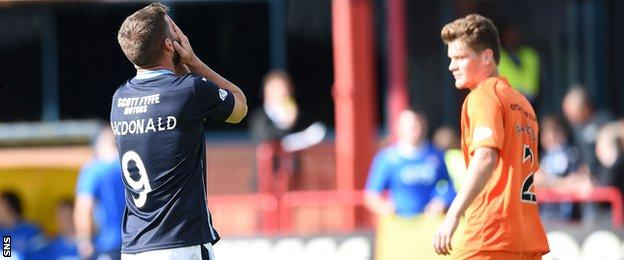Dundee forward Peter MacDonald