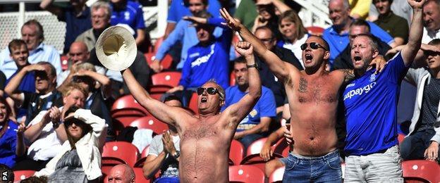 Birmingham fans at Middlesbrough