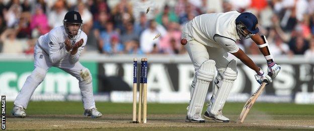 Pankaj Singh is bowled