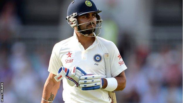 Virat Kohli has scored only 108 runs in eight innings in the series