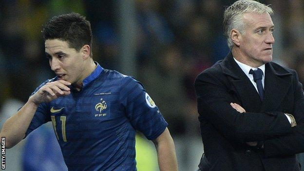 Samir Nasri and Didier Deschamps
