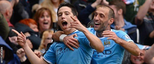 Samir Nasri and Pablo Zabaleta
