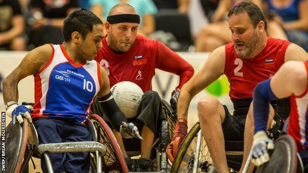 Great Britain wheelchair rugby beat Denmark
