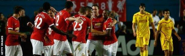 Manchester United beat Liverpool in a pre-season friendly