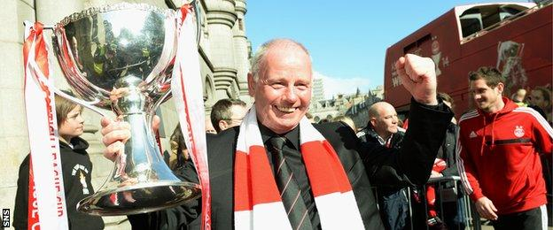 Stewart Milne saw Aberdeen lift the League Cup in March for the first time since 1995.