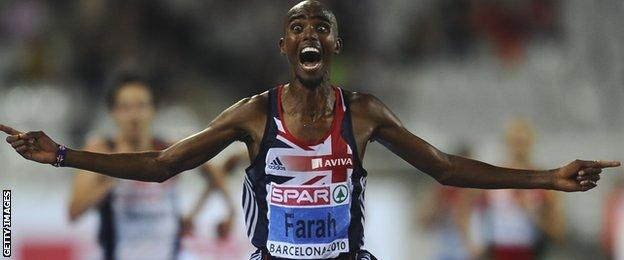 Mo wins at the 2010 European Championships 10,000m