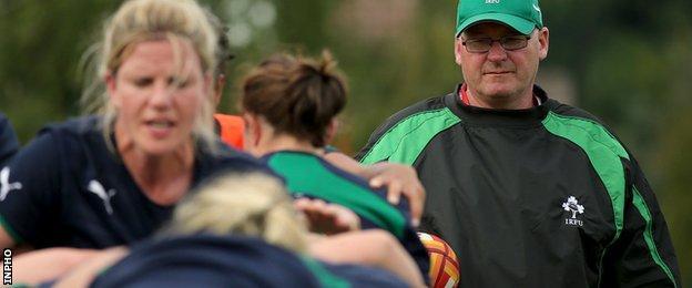 Philip Doyle coaching the Ireland team