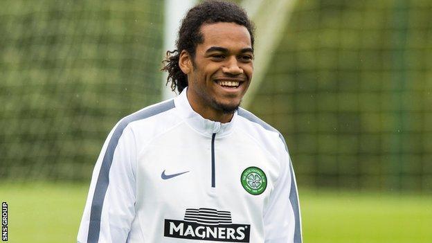 Jason Denayer in training with Celtic