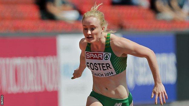 Amy Foster equalled the Irish women's 100m record earlier this year with an 11.40 seconds clocking
