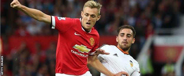 Darren Fletcher of Manchester United in action during the pre-season friendly against Valencia at Old Trafford