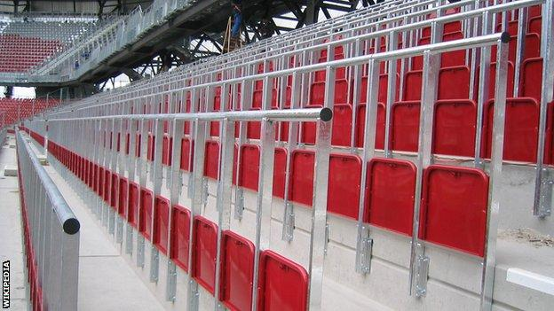 An example of rail-seating used in Austria