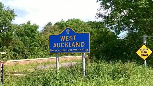 West Auckland sign