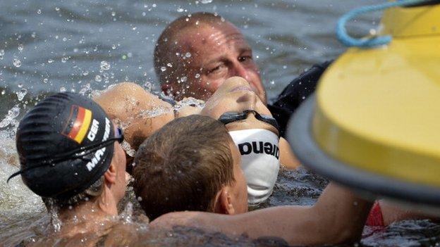 Swimmers in Berlin