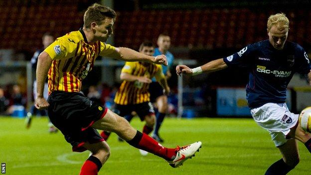 Stephen O'Donnell scores for Partick Thistle against Ross County
