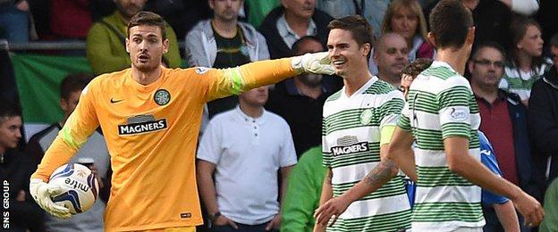 Craig Gordon enjoyed an assured league debut for Celtic