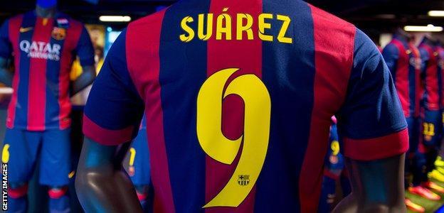 Suarez Barca shirt