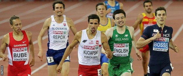 Mark English didn't look as composed on Wednesday as in his opening heat