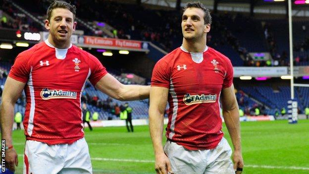 Alex Cuthbert and Sam Warburton