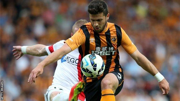 Shane Long was involved in Hull City's Europa League third qualifying round tie against AS Trencin