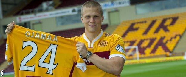 Motherwell forward Henrik Ojamaa