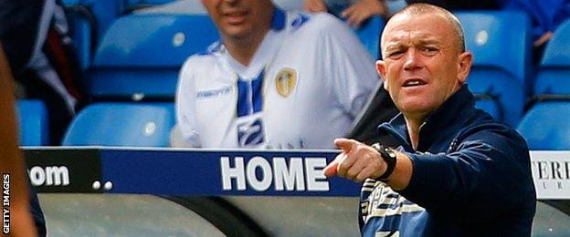 Leeds manager Dave Hockaday