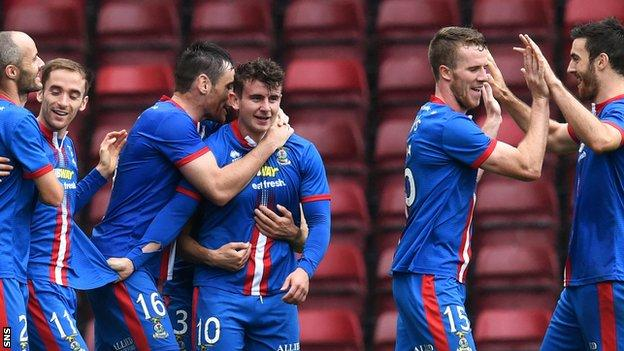 Inverness CT's Aaron Doran celebrates his goal