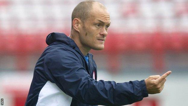 Hamilton Academical player-manager Alex Neil