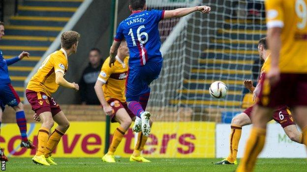 ICT's Greg Tansey fires in the opener to put his side ahead.
