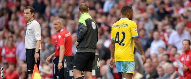 Jason Puncheon is sent off