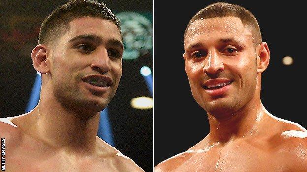 Amir Khan (left) and Kell Brook