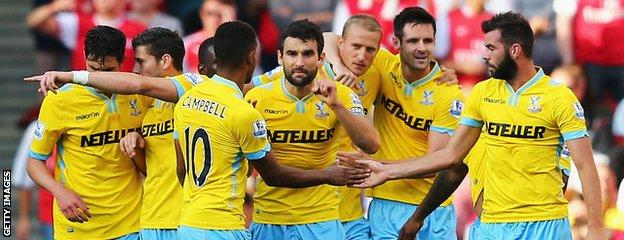 Crystal Palace took the lead against Arsenal but ultimately lost 2-1