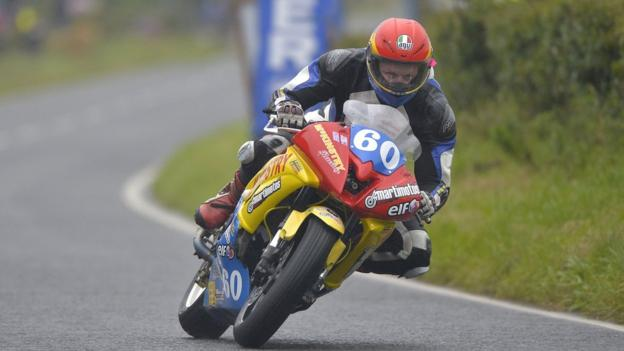 Ivan Lintin took victory in the Ulster Grand Prix Supertwins class on his McKinstry Racing Kawasaki