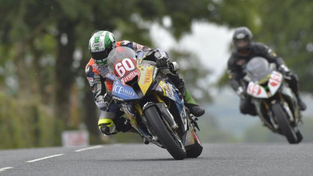 Lincolnshire rider Peter Hickman set the fastest lap ever by a newcomer at Dundrod on his BMW during Ulster Grand Prix Bike Week