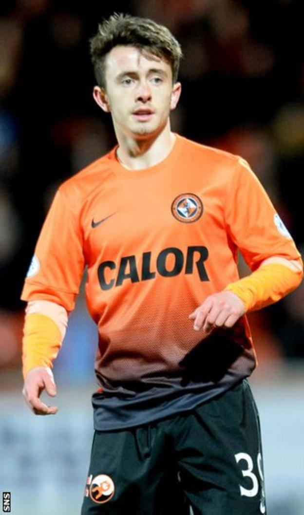 Dundee United winger Aidan Connolly