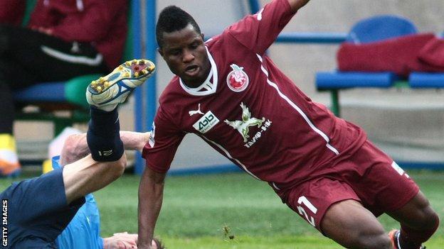 Mubarak Wakaso is wanted by Celtic on loan from Rubin Kazan