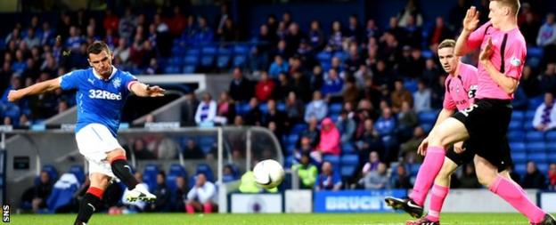 Lee McCulloch hammers in his team's fourth