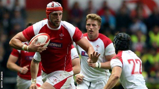 Lock Luke Charteris has won 48 caps for Wales